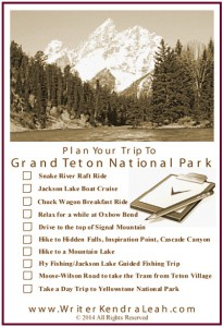 Click to print or save as a quick reference for planning your trip to Grand Teton National Park.